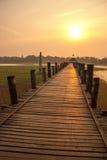 Γέφυρα Ubein στο Mandalay, το Μιανμάρ Στοκ φωτογραφία με δικαίωμα ελεύθερης χρήσης