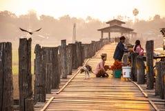 Γέφυρα Ubein στο Mandalay, το Μιανμάρ Στοκ Εικόνες