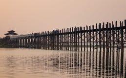 Γέφυρα Ubein στο Mandalay, το Μιανμάρ Στοκ Εικόνα