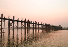 Γέφυρα Ubein στο Mandalay, το Μιανμάρ Στοκ φωτογραφίες με δικαίωμα ελεύθερης χρήσης