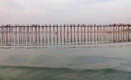 Γέφυρα Ubein στο Mandalay, το Μιανμάρ Στοκ εικόνες με δικαίωμα ελεύθερης χρήσης