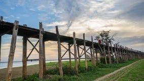 Γέφυρα Ubein, Mandalay, το Μιανμάρ Στοκ εικόνα με δικαίωμα ελεύθερης χρήσης
