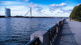 Γέφυρα Vansu, Ρήγα, Λετονία Στοκ φωτογραφία με δικαίωμα ελεύθερης χρήσης