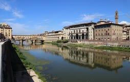 Γέφυρα Vecchio Ponte και στοά Uffizi στη Φλωρεντία, Ιταλία Στοκ φωτογραφίες με δικαίωμα ελεύθερης χρήσης