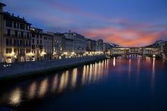 Γέφυρα Vecchio Ponte. Φλωρεντία, Ιταλία Στοκ φωτογραφίες με δικαίωμα ελεύθερης χρήσης