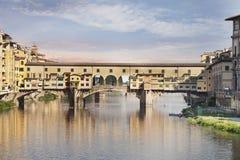 Γέφυρα Vecchio Ponte. Φλωρεντία, Ιταλία Στοκ φωτογραφία με δικαίωμα ελεύθερης χρήσης