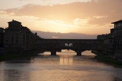 Γέφυρα Vecchio Ponte, Φλωρεντία Στοκ φωτογραφία με δικαίωμα ελεύθερης χρήσης