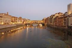 Γέφυρα Vecchio Ponte Στοκ Φωτογραφίες