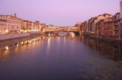 Γέφυρα Vecchio Ponte Στοκ Φωτογραφία