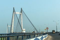 Γέφυρα Vidyasagar Setu/δεύτερος Hooghly στοκ φωτογραφία με δικαίωμα ελεύθερης χρήσης