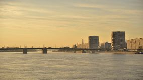 Γέφυρα Volodarsky στην Αγία Πετρούπολη απόθεμα βίντεο