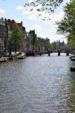 Γέφυρα Wijde heisteeg, κανάλι Herengracht, Άμστερνταμ, Ολλανδία, Κάτω Χώρες στοκ εικόνες