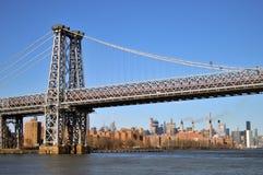 Γέφυρα Williamsburg στην πόλη της Νέας Υόρκης στοκ εικόνα με δικαίωμα ελεύθερης χρήσης