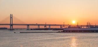 Γέφυρα Yokohama κόλπων Στοκ φωτογραφία με δικαίωμα ελεύθερης χρήσης