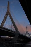 Γέφυρα Zakim, Βοστώνη Στοκ φωτογραφίες με δικαίωμα ελεύθερης χρήσης