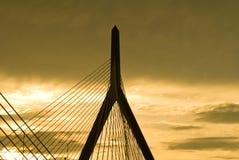 γέφυρα zakim Στοκ Εικόνα