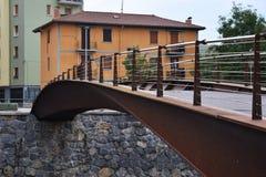 Γέφυρες για πεζούς των ποταμών Στοκ Φωτογραφία