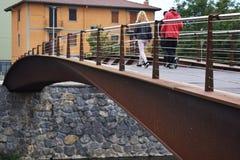 Γέφυρες για πεζούς των ποταμών Στοκ φωτογραφία με δικαίωμα ελεύθερης χρήσης
