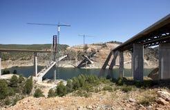 Γέφυρες κάτω από την κατασκευή Στοκ Εικόνα