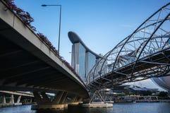 Γέφυρες και δρόμος στο ξενοδοχείο άμμων κόλπων μαρινών Στοκ Εικόνες