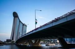 Γέφυρες και δρόμος στο ξενοδοχείο άμμων κόλπων μαρινών Στοκ Φωτογραφίες