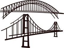 γέφυρες που τίθενται Στοκ φωτογραφία με δικαίωμα ελεύθερης χρήσης