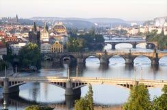 γέφυρες Πράγα Στοκ εικόνα με δικαίωμα ελεύθερης χρήσης