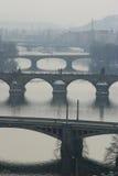 γέφυρες Πράγα s Στοκ Φωτογραφία