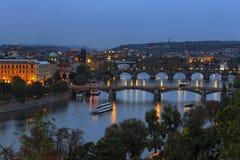 Γέφυρες στην Πράγα Στοκ Φωτογραφίες