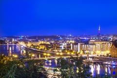 Γέφυρες της Πράγας Στοκ εικόνα με δικαίωμα ελεύθερης χρήσης