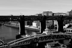 Γέφυρες του Νιουκάσλ σε γραπτό Στοκ φωτογραφία με δικαίωμα ελεύθερης χρήσης