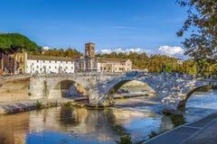 Γέφυρες Cestius, Ρώμη στοκ εικόνες
