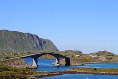 Γέφυρες Fredvang στοκ φωτογραφίες με δικαίωμα ελεύθερης χρήσης