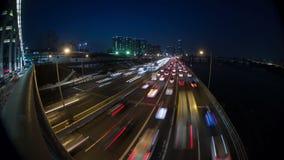 Γέφυρες yoido πόλεων της Σεούλ απόθεμα βίντεο