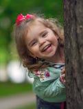 Γέλιο μικρών κοριτσιών Στοκ Εικόνες