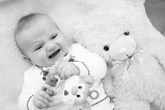 γέλιο μωρών ευτυχής μητέρα μωρών Στοκ φωτογραφίες με δικαίωμα ελεύθερης χρήσης
