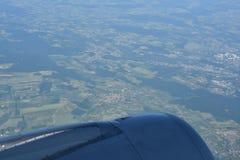 Γήινη άποψη ουρανού από το αεροπλάνο Στοκ Φωτογραφίες
