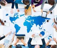 Γήινη έννοια παγκοσμιοποίησης παγκόσμιας σφαιρική χαρτογραφίας Στοκ φωτογραφία με δικαίωμα ελεύθερης χρήσης