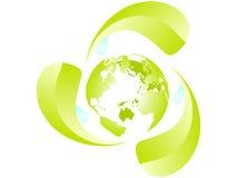 γήινη ανακύκλωση Στοκ εικόνες με δικαίωμα ελεύθερης χρήσης