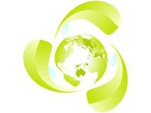 γήινη ανακύκλωση Στοκ εικόνα με δικαίωμα ελεύθερης χρήσης