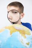 Γήινη γούρνα πιό magnifier Στοκ εικόνες με δικαίωμα ελεύθερης χρήσης