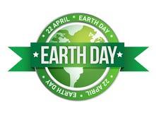 Γήινη ημέρα που γράφεται μέσα στο γραμματόσημο ελεύθερη απεικόνιση δικαιώματος