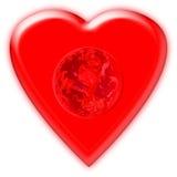 γήινη καρδιά Στοκ εικόνες με δικαίωμα ελεύθερης χρήσης