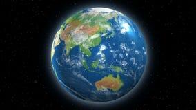 Γήινη περιστρεφόμενη άποψη από το διάστημα απεικόνιση αποθεμάτων