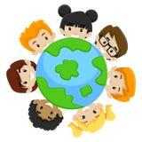 Γήινη ποικιλομορφία παιδιών ελεύθερη απεικόνιση δικαιώματος