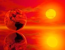 γήινη πυρκαγιά διανυσματική απεικόνιση