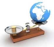Γήινη πώληση - εννοιολογική εικόνα διανυσματική απεικόνιση