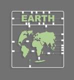 Γήινη πλαστική πρότυπη εξάρτηση ήπειροι Παλαιός Κόσμος χαρτών απεικόνισης απεικόνιση αποθεμάτων