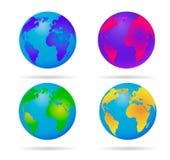Γήινη σφαίρα νέου διανυσματική απεικόνιση