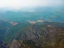 Γήινη όψη από το αεροπλάνο Στοκ φωτογραφία με δικαίωμα ελεύθερης χρήσης